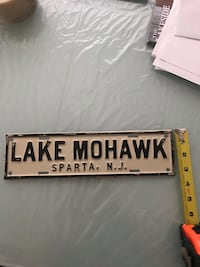 Lake Mohawk Sparta NJ Metal Plate/Sign  Ocean Grove, 07756
