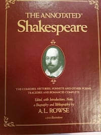 Annotated Shakespeare book complete 3 volume 1978