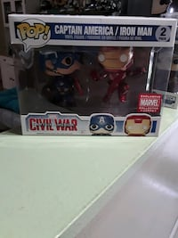 2 pack Captain America and Iron man pop