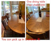 Hardwood dining table with four chairs Cranston, 02910