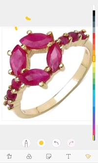 Womens grade AAA ruby ring Vancouver, V6Z 1M7