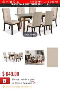 Chelsea 7-piece dining room package  Brampton, L6R 0W2