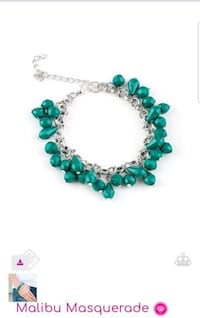 green and silver beaded bracelet Cuyahoga Falls, 44223