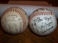2 BASEBALL WITH NAMES ON THEM CONWAY