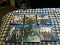 six Sony PS4 game's  gently used  Hamilton, L9C