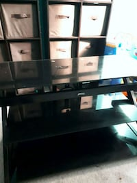 black wooden TV stand with mount Barrie, L4M