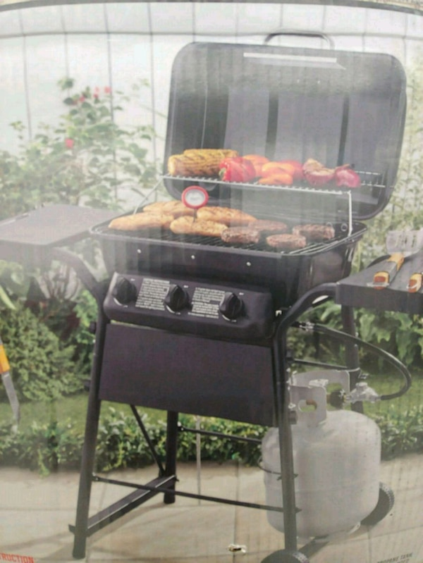 3 Burner Gas BBQ Grill Backyard Cookout
