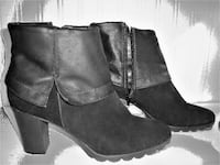 "JEAN BOOTS 3"" HEEL SUEDE AND LEATHER SIZE 41 ( US 9 1/2 ) AS NEW Ottawa"