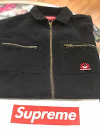 Brand new Black Supreme Vampire Denim zip up jacket size small Silver Spring, 20902