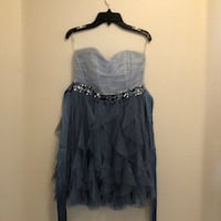 Blue and Gray Homecoming Dress Meridian, 83642