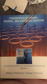 Fundamentals of General, Organic, and Biological Chemistry textbook Pullman, 99163