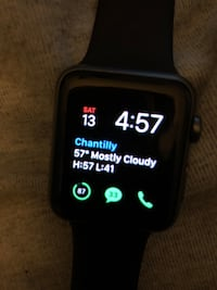 Black apple watch with black sports band Chantilly, 20151