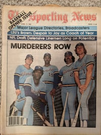 Sporting News featuring Brewers April 1981  Chicago