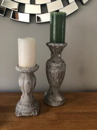 two gray metal candle holders Willoughby, 44094