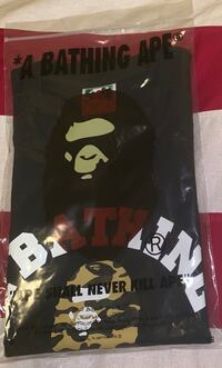 Bape black/yellow Camo t shirt
