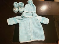 baby's blue and white knitted dress Edmonton, T5Z 3N1