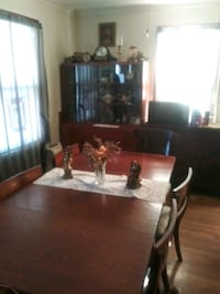 Antique table,chairs,& hutch.