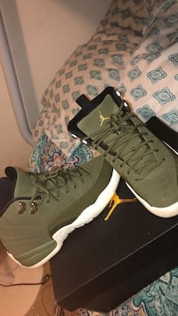 Olive green Jordan 12s Size 5.5 in women  Winter Haven, 33880
