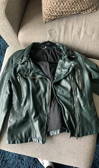 Vegan Leather Green Free People Jacket Vancouver, V6B 6M4