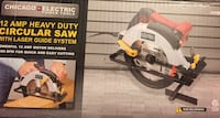 CHICAGO ELECTRIC 12 AMP HD CIRCULAR SAW WITH LASER GUIDE SYSTEM Dover, 19904