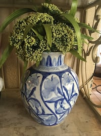 blue and white floral ceramic vase Corona, 92879