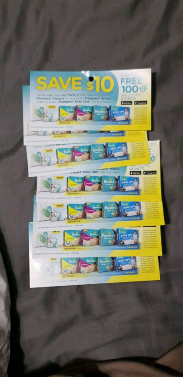 Pampers diaper coupons for trade