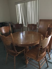 dining table- six chairs plus extension