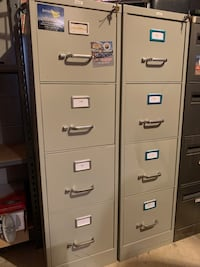Two Letter sized filing cabinets