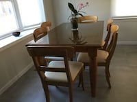 """Pottery Barn pine dining table (chairs are not included) 60""""L, 36""""W, 30""""H Potomac, 20854"""