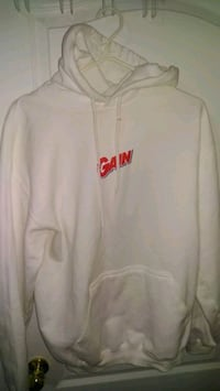 white and red Nike zip-up hoodie Brampton, L6R 3M6