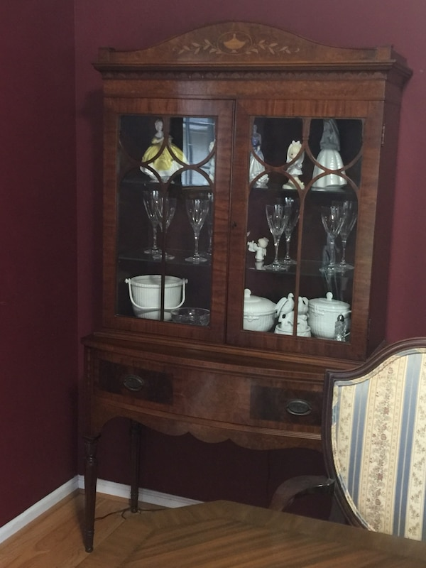 Antique Dining Room And China Hutch
