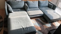 IKEA turquoise sectional sofa Washington, 20016