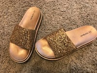 pair of brown leather slide sandals Cleburne, 76031