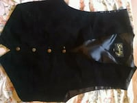 Scully black leather vest San Leandro, 94577