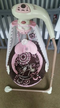 white and pink cradle n swing Raleigh, 27606