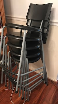Black and gray steel chair