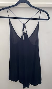 ARITZIA Wilfred Free Black Strappy Tank Top With Tags in Size Small Toronto, M9A 4A4