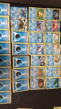 assorted color of Pokemon trading card collection