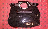 black and gray zebra skin leather handbag Lancaster, 93535