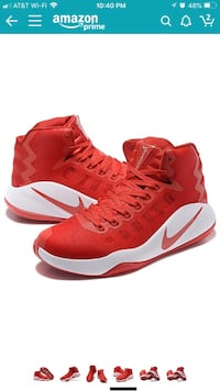 Pair of red nike basketball shoes size 13 Chantilly, 20151