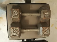 two grey 20 lb. dumbbells Gaithersburg, 20886