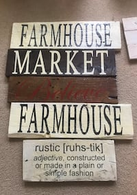 Farmhouse reclaimed wood signs  Greer, 29651