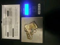 14k solid gold 18 inch chain and jesus pendant 12.1 grams total Newark, 07112