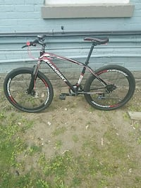 black and red hardtail mountain bike Toronto, M4X 1K2