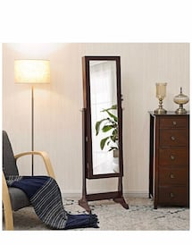 Jewelry Armoire (lights, mirror, lock and key)