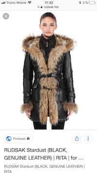 Women's brown fur coat