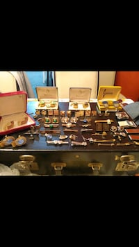 50+ Cufflinks Tie Clips and Money Clip Accessory Lot Sterling Gold