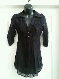 Women's black lace shirt  Coldstream, V1B