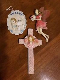 3 vintage wall hangings all three for