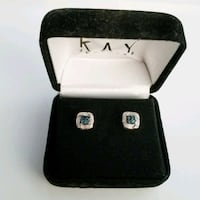 Sterling Silver Sapphire Diamond Chip Earrings new Moreno Valley, 92553